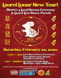 Flier for Laurel Lunar New Year + Local Heroes Celebration