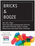 Flier for Bricks & Booze