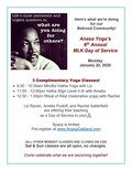 Flier for MLK Day of Service at Anasa Yoga