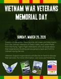 Flier for Vietnam War Veterans Day