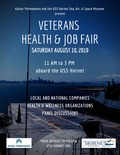 Flier for Veterans Health and Job Fair
