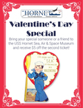 Flier for Valentine`s Day Special on the USS Hornet