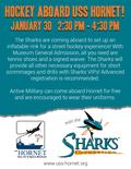 Flier for Sharks on the USS Hornet!