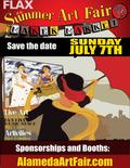 Flier for Alameda Summer Art Fair and Maker Market