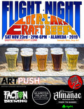 Flier for Flight Night Local Art Craft Beer