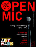 Flier for Second Friday Open Mic