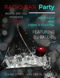 Flier for Where Are You Mondays at Radio