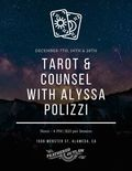 Flier for Tarot & Counsel with Alyssa Polizzi