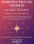 Flier for Introduction to Chakras Workshop