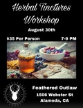 Flier for Herbal Tinctures Workshop