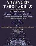 Flier for Advanced Tarot Skills Workshop