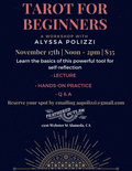 Flier for Tarot for Beginners with Alyssa