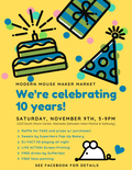 Flier for Modern Mouse`s 10th Anniversary Party