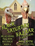 Flier for Black Saturday Bazaar