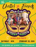 Flier for Chelle! & Friends Mardi Gras Party