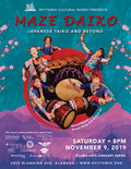 Flier for Maze Daiko: Japanese Taiko and Beyond