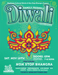 Flier for Diwali Celebration with Non-Stop Bhangra