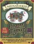 Flier for The Menagerie Holiday Oddities Market