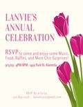 Flier for LanVie Annual Celebration